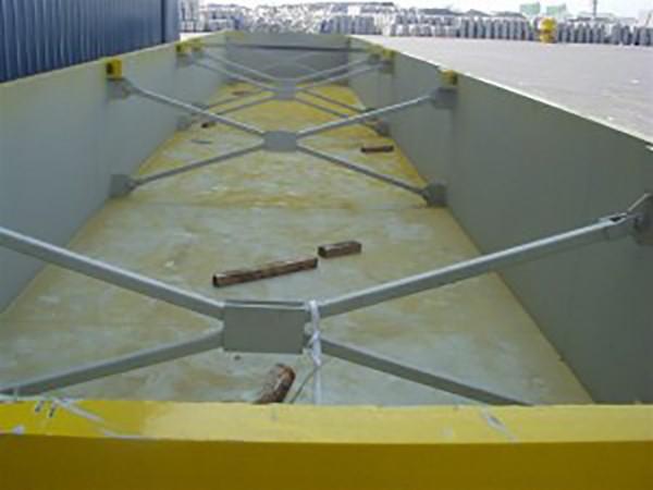 container lekbak geel