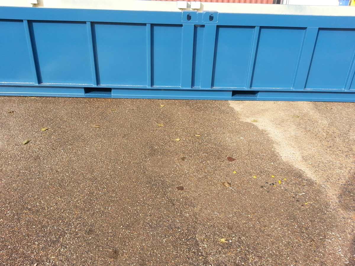 container lekbak blauw