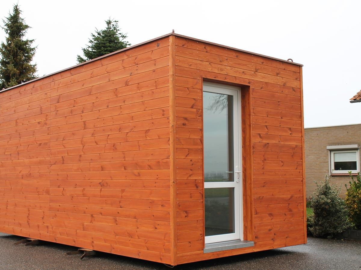 Prefab aanbouw container woning