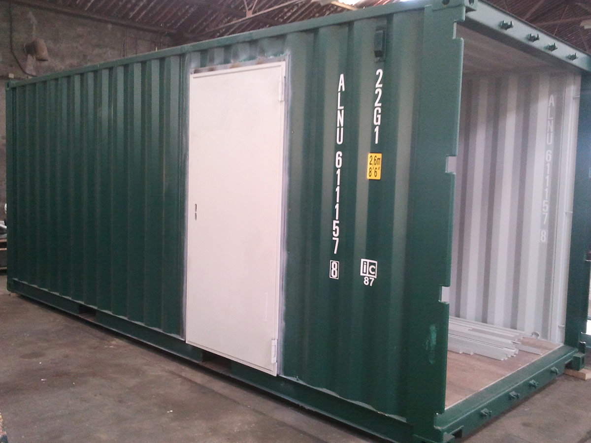 Container modificatie deur