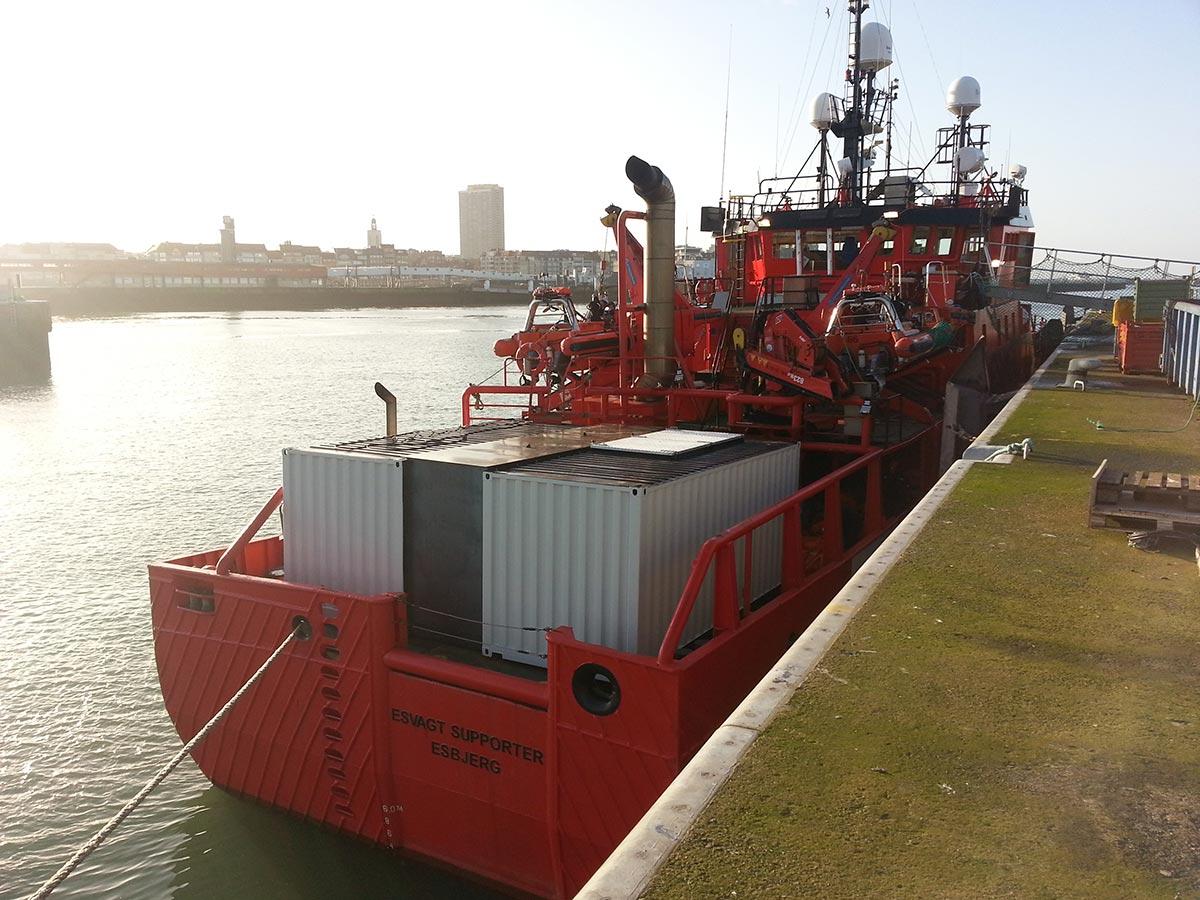 Modificatie containers vervoer