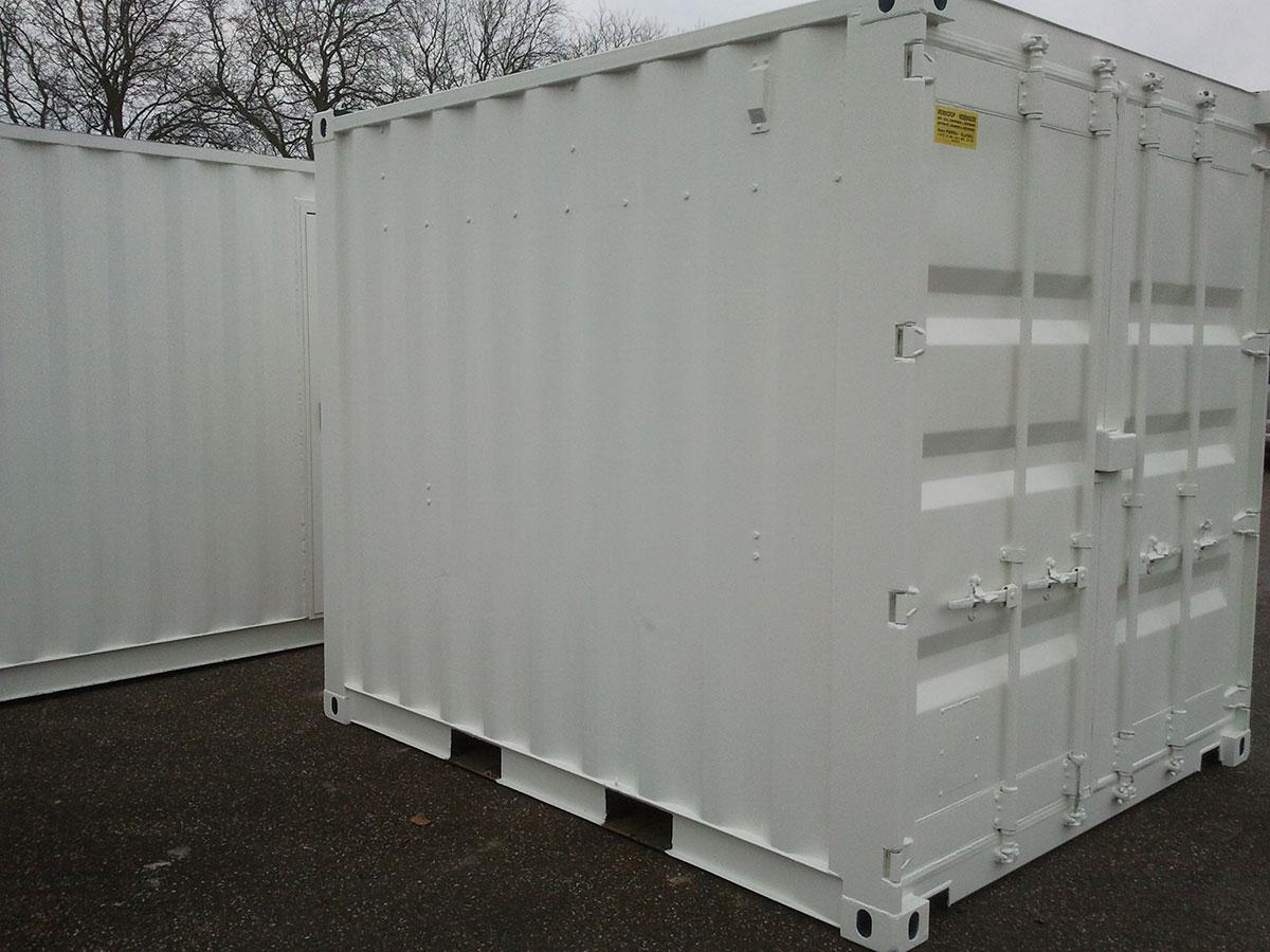 Container modificatie stralen en spuiten in RAL kleuren