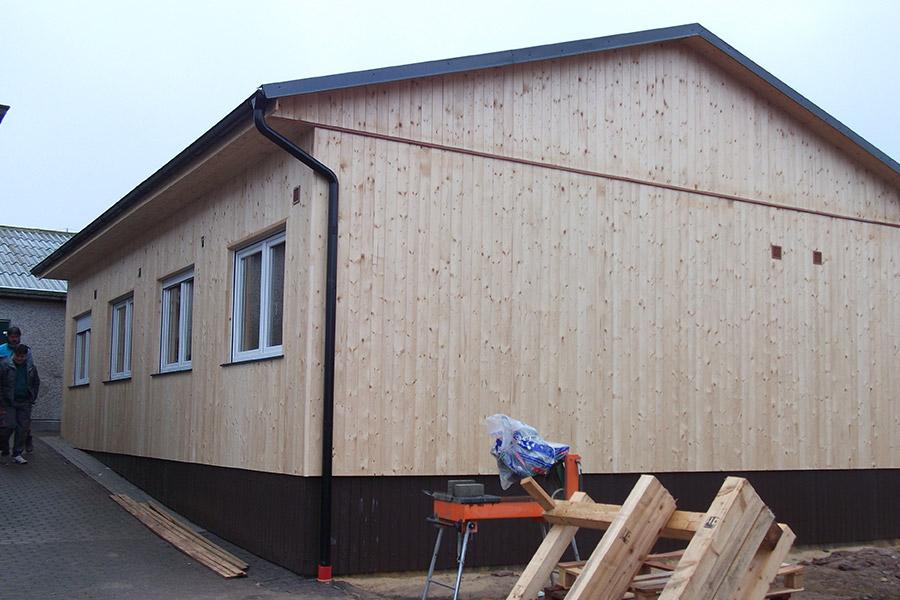 Luxe unit afgewerkt met hout