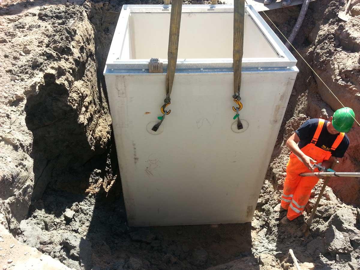 Plaatsen ondergrondse container